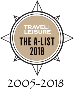 Travel+Leisure The A-List 2018 Award